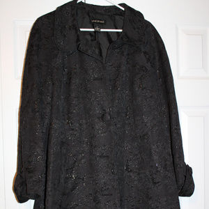 Lane Bryant Sparkly Black Long Jacket